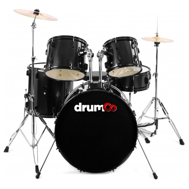 Obelix Drumco Drumset Black with Black Hardware