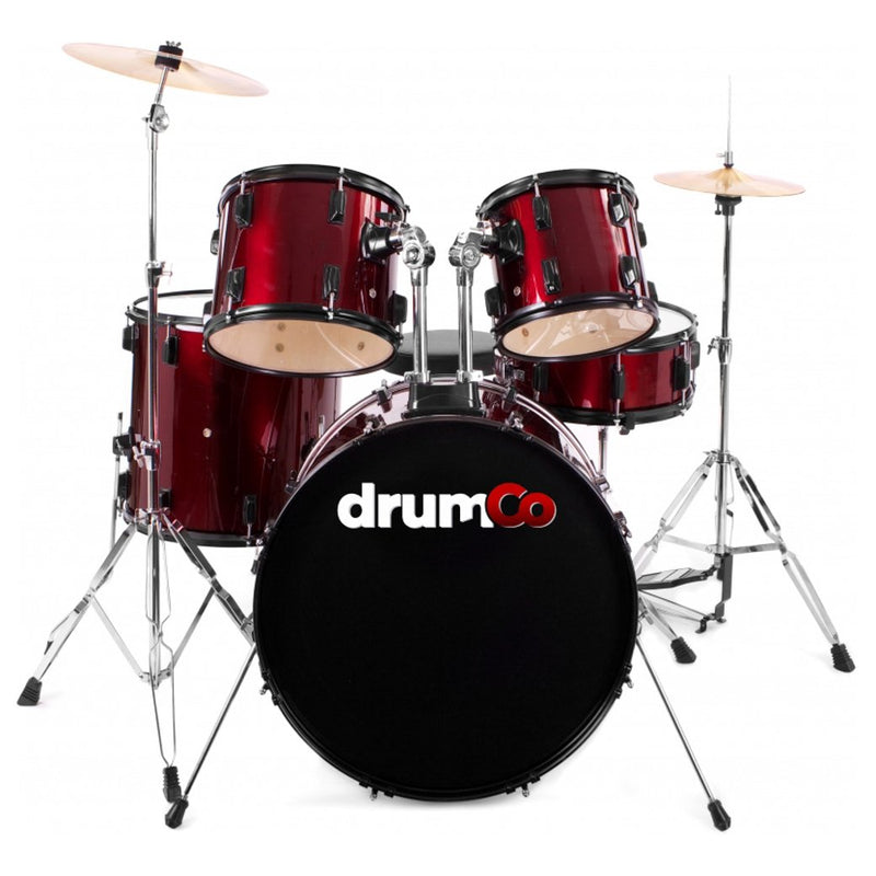 Obelix Drumco Drumset Red with Black Hardware
