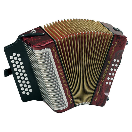 Hohner Corona III BEA Red - Vallenato Accordion