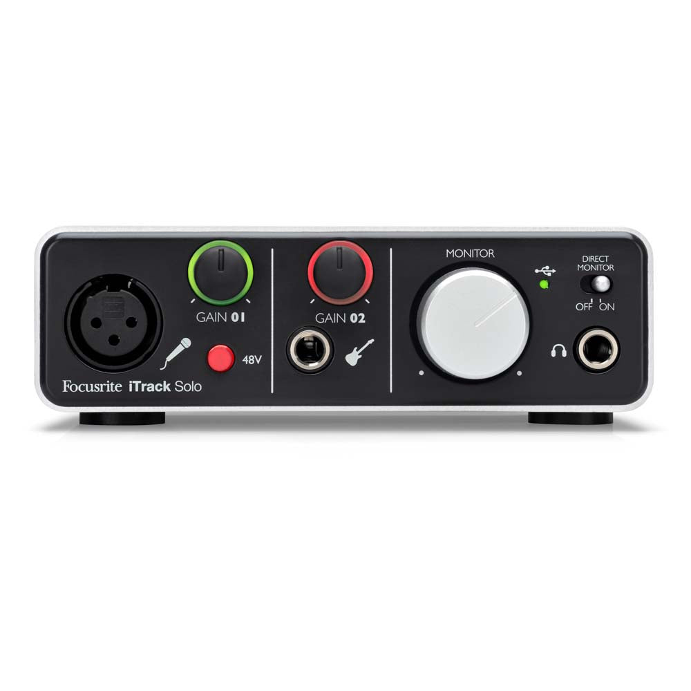 Focusrite iTrack Solo iOS Audio Interface with Lightning Connector