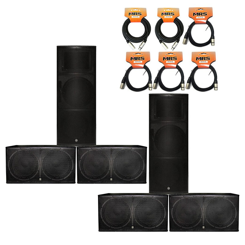 Topp Pro Speaker Bundle for 500 People with Microphone and Cables
