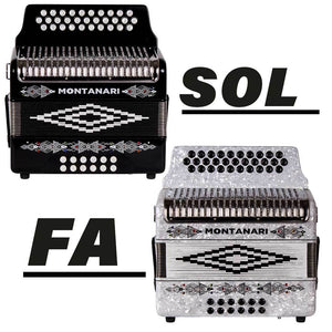 Bundle of Two Montanari 3112 G Accordions FBE White and GCF Black