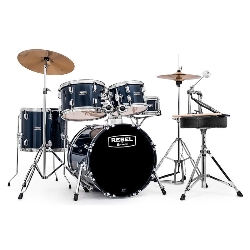 Mapex Rebel Junior 5-Piece Drum Set Royal Blue