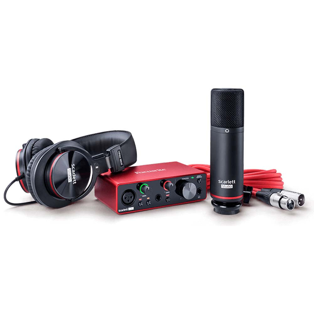 Focusrite Scarlett Solo Studio Pack with Microphone and Headphones