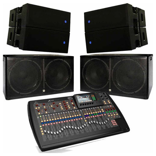 Topp Pro Line Array Bundle with Subwoofer and Mixer
