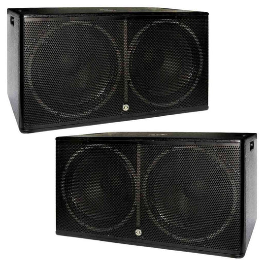 "Bundle 2 Double 18"" Subwoofers Topp Pro"