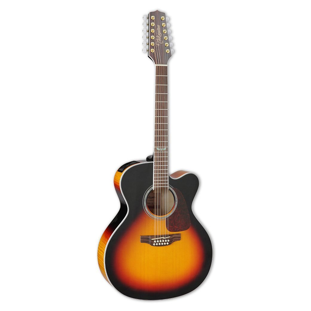 Takamine 12-String Acoustic-Electric Guitar Brown Sunburst