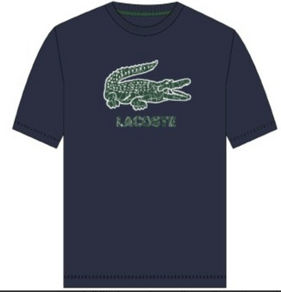 Lacoste-Men's Crocodile-Embroidery Cotton T-shirt