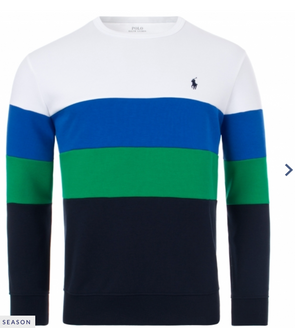 Polo ralph lauren-color block sweatshirt-