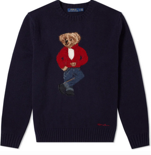 Polo ralph lauren-james dean bear knit-#