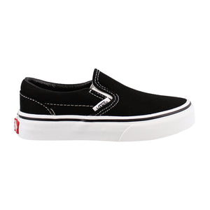 Preschool Kids Vans Classic Slip-On Shoes Skate Shoe In Black True White - Simons Sportswear