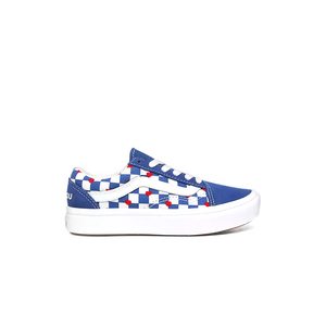 Preschool Kids Vans ComfyCush Old Skool (Autism Awareness) Skate Shoe In Dream Blue - Simons Sportswear