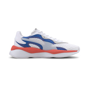 Mens Puma RS Pure Vision Sneaker In White / Blue - Simons Sportswear