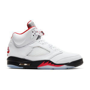 "Mens Air Jordan 5 Retro ""Fire Red"" Sneaker - Simons Sportswear"