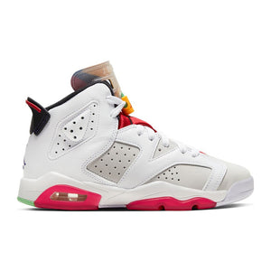 "Big Kids Air Jordan 6 Retro ""Hare"" Sneaker In Multicolor - Simons Sportswear"