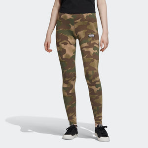 Womens Adidas Originals Allover Print Tights Camouflage - Simons Sportswear