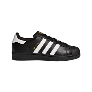 Big Kids Adidas Superstar Foundation Shell Toe Classic Sneaker In Black White - Simons Sportswear
