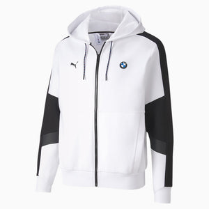 Men's Puma BMW M Motorsport Hooded Sweatsuit Jacket White - Simons Sportswear