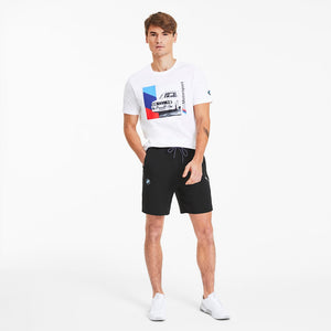Men's BMW M Motorsport Men's Sweat Shorts in Black - Simons Sportswear