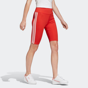 Womens Adidas Originals Biker Shorts (Lush Red) - Simons Sportswear