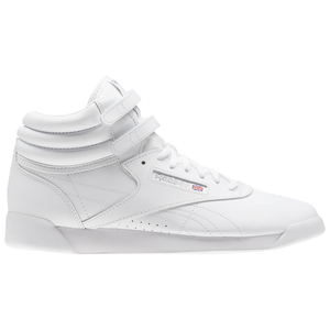 Big Kids Reebok Freestyle Hi Shoes In White - Simons Sportswear