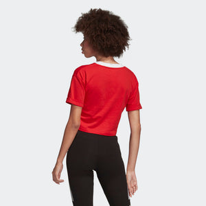 Womens Adidas Originals Crop Top Tee (Lush Red) - Simons Sportswear