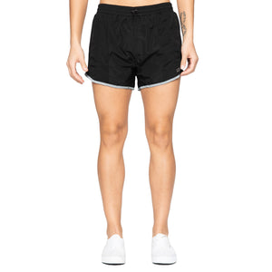 Womens DOPE Reflective Running Shorts In Black - Simons Sportswear