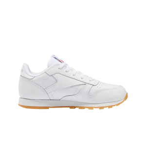 Big Kids Reebok Classic Leather Shoes In White / Scarlett - Simons Sportswear
