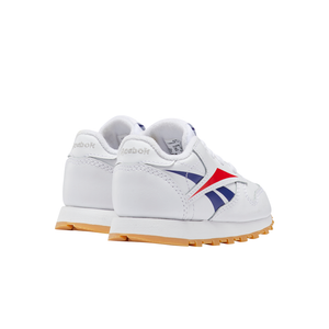 Toddler Kids Reebok Classic Leather Shoe In White / Scarlett - Simons Sportswear