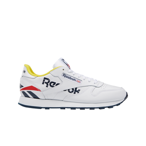 Mens Reebok Classic Leather ATI Sneaker In White / Navy - Simons Sportswear