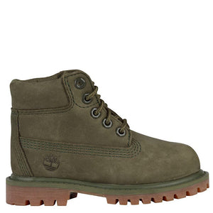 Toddler Kids Timberland 6-Inch Premium Waterproof Boots Timbs In Dark Green Nubuck - Simons Sportswear