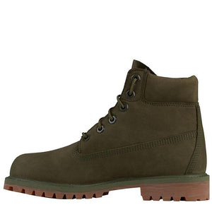 Big Kids Timberland 6-Inch Premium Waterproof Boots Timbs In Dark Green Nubuck - Simons Sportswear