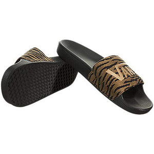 Womens Vans Slide-On Woven Sandals In Tiger Print - Simons Sportswear