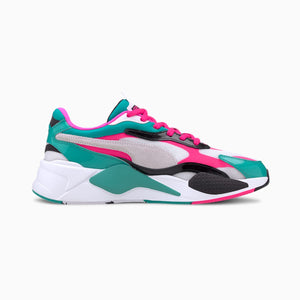 Mens Puma RS-X3 Plastic Sneaker In White / Pink - Simons Sportswear