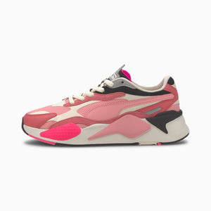 Womens Puma RS-X3 Puzzle Sneaker In Rapture Rose - Simons Sportswear