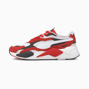 Mens Puma RS-X3 Super Sneaker In White / Red - Simons Sportswear
