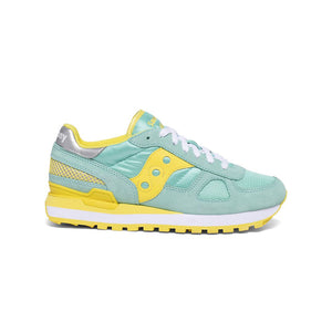 Women's Sacony Shadow Original Sneaker In Blue / Yellow - Simons Sportswear