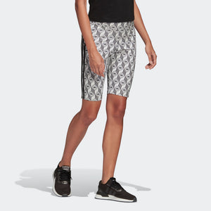 Womens Adidas Originals Cycling Shorts (Black/White) - Simons Sportswear