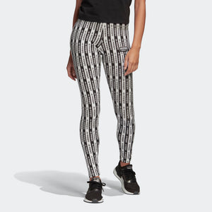 Womens Adidas Originals Logo Tights (Black/White) - Simons Sportswear