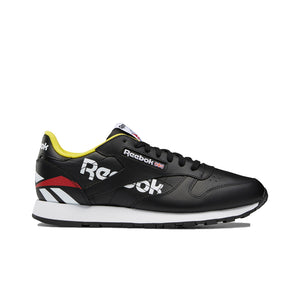 Mens Reebok Classic Leather Sneaker In Black - Simons Sportswear