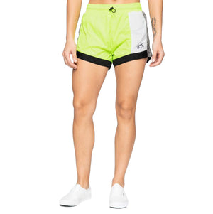 Womens DOPE Nuova Running Shorts in Green - Simons Sportswear