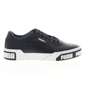 Womens Puma Cali Bold Sneakers In Black / Gold - Simons Sportswear