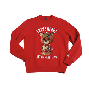"Mens Sniper Gang ""Heartless"" Crewneck In Red"