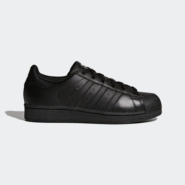 96b910e5455 Big Kids Adidas Superstar Foundation Shell Toe Classic Sneaker In All Black
