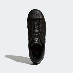 Big Kids Adidas Superstar Foundation Shell Toe Classic Sneaker In All Black - Simons Sportswear