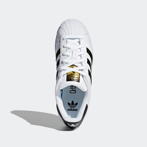 Big Kids Adidas Superstar Foundation Shell Toe Classic Sneaker In White Black - Simons Sportswear