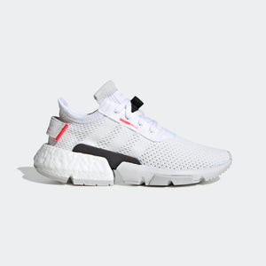 Big Kids Adidas Unisex Originals Pod S3-1 Shoe In Cloud White Shock Red - Simons Sportswear