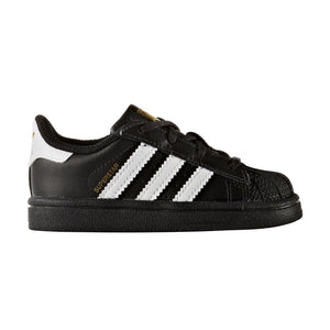 Infant Kids Adidas Originals Superstar Shell Toe Sneaker In Black White - Simons Sportswear