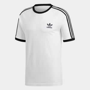 Mens Adidas 3-Stripes Tee Shirt In White - Simons Sportswear