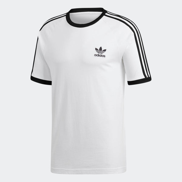 529cfdbce4f Mens Adidas 3-Stripes Tee Shirt In White - Simons Sportswear